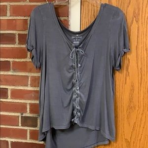 Lace up Tee shirt